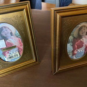 Vintage New CARR Picture Frame (2) Oval Brass Mat